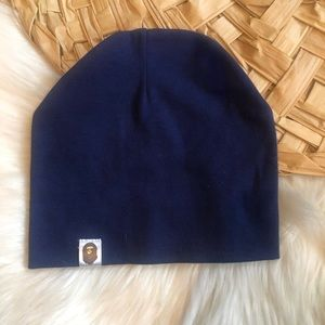 BAPE a bathing ape beanie hat blue winter